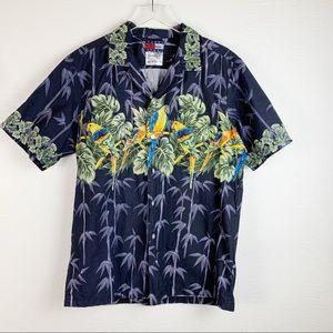 Vintage Tommy Fashion Hawaii Birds Aloha Shirt L